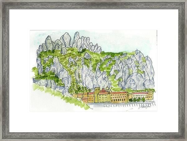 Mont Serrat, Spain Framed Print