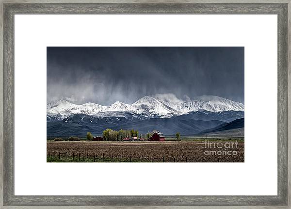 Montana Homestead Framed Print