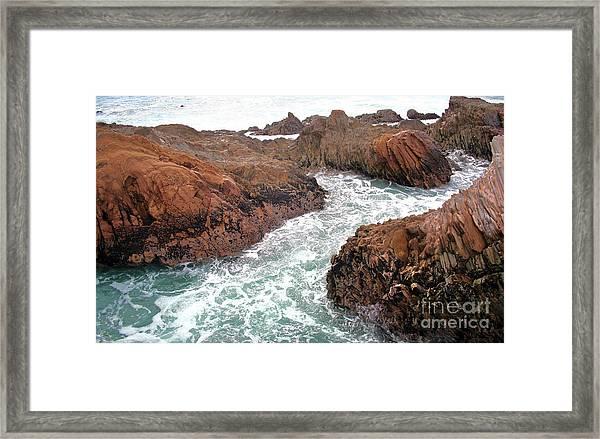 Montana Jagged Rocks Framed Print