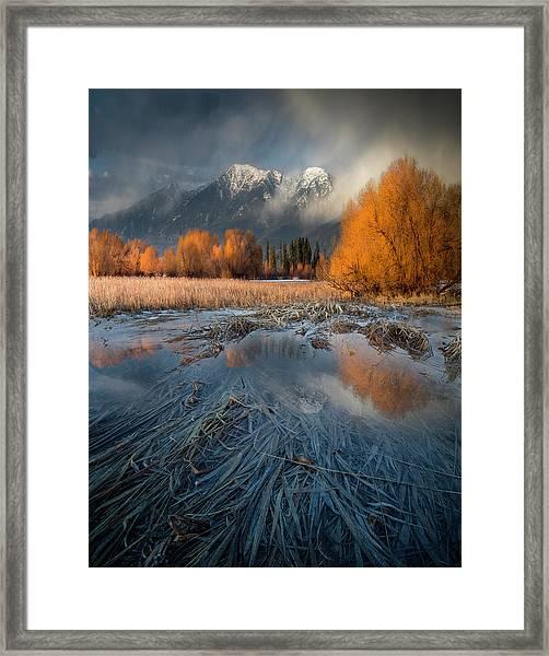Montana Spring Storm / Bigfork, Montana Framed Print