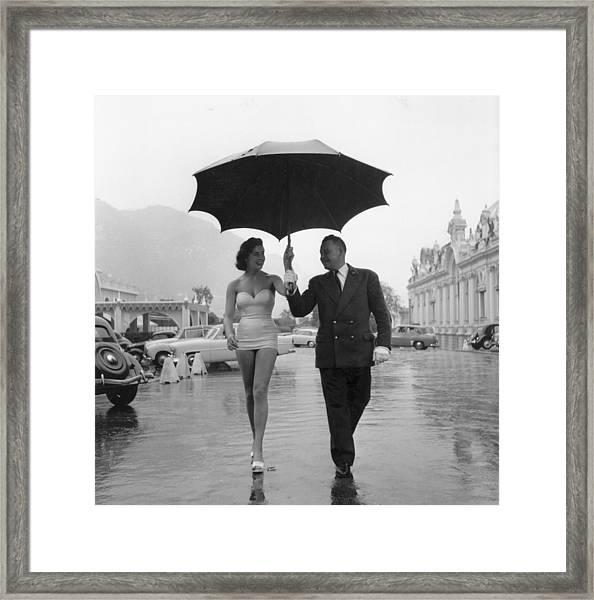 Monte Carlo Rain Framed Print
