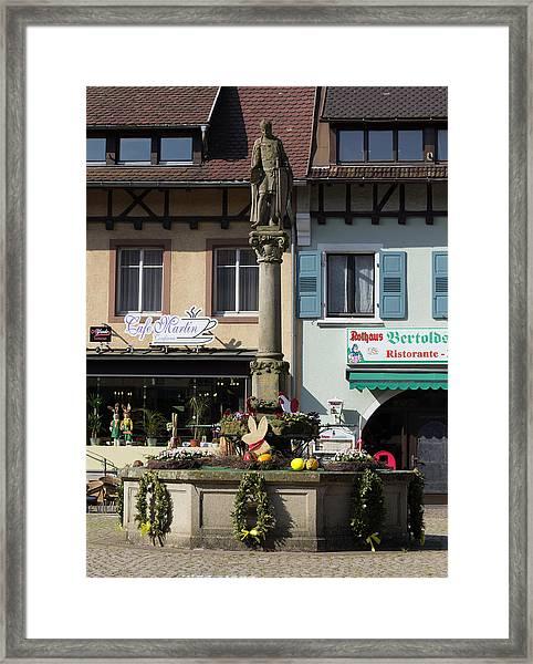 Monument To Berthold I I Framed Print
