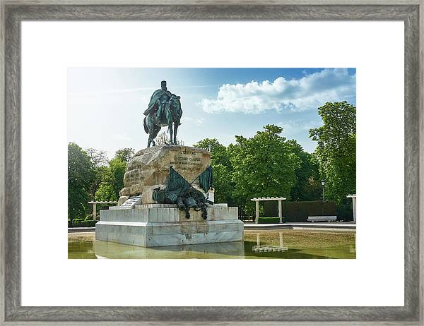 Monument To General Arsenio Martinez Campos In Madrid, Spain Framed Print