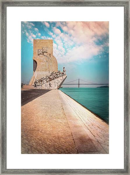 Monument To The Discoveries Belem Lisbon Portugal Framed Print