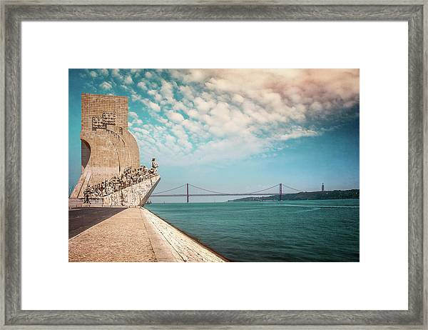 Monument To The Discoveries Lisbon Portugal Framed Print