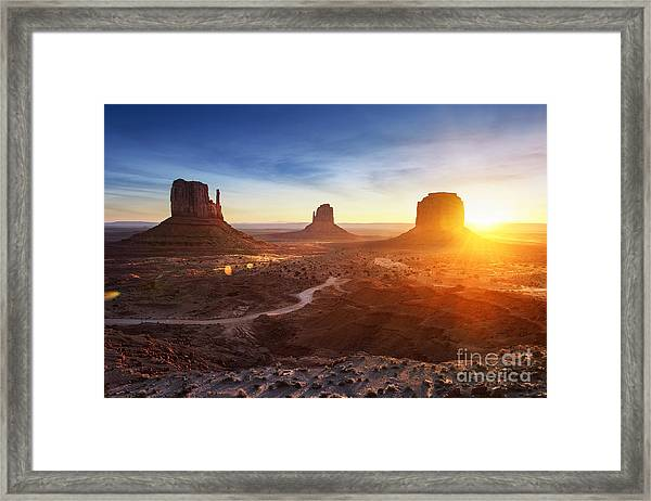Monument Valley At Sunrise Framed Print
