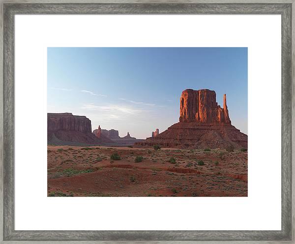 Monument Valley At Sunset Framed Print
