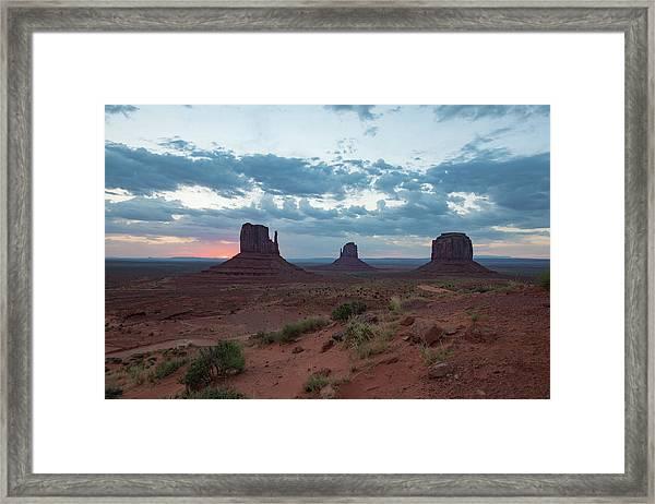 Monument Valley Before Sunrise Framed Print