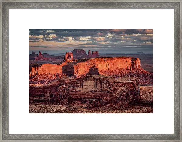 Monument Valley From Hunt's Mesa 3 Framed Print