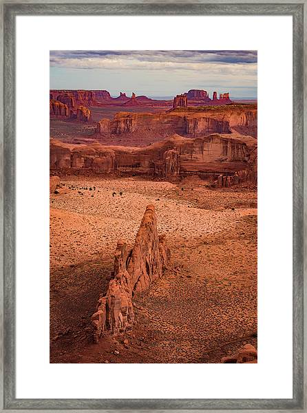 Monument Valley From Hunt's Mesa Framed Print