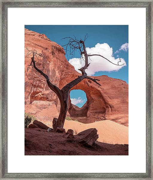 Monument Valley IIi, Ear Of The Wind Framed Print