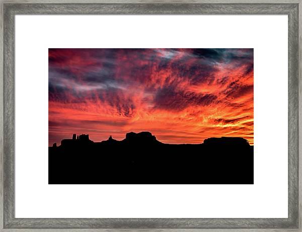 Monument Valley Mile 13 Sunset Framed Print