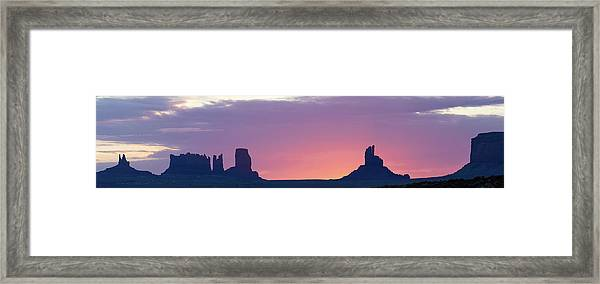 Monument Valley Sunrise Panorama Framed Print