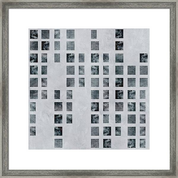 Moody Blues Data Pattern Framed Print