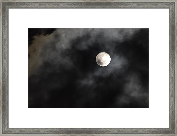 Moon In The Still Of The Night Framed Print