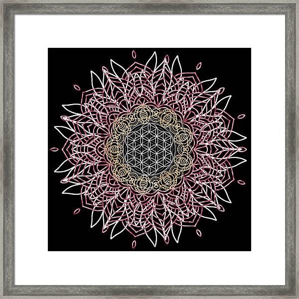 Moon Mandala Framed Print