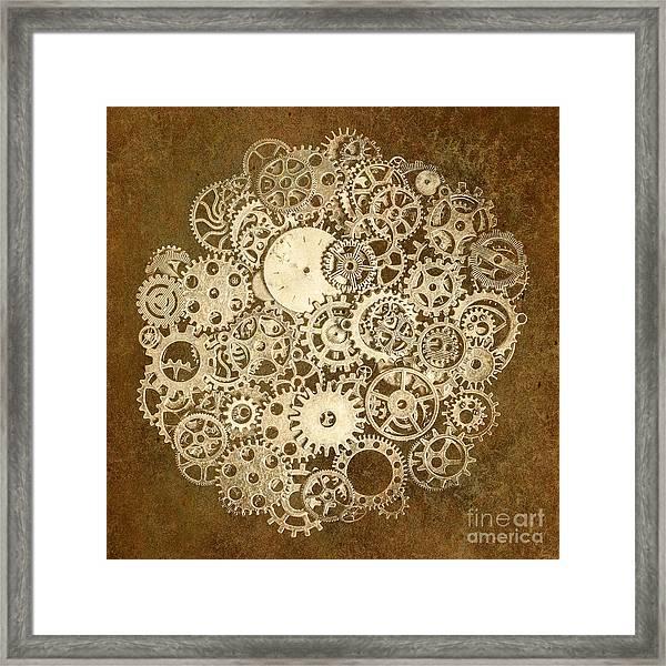 Moon Mechanics Framed Print