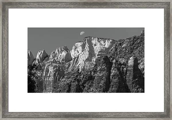 Moon Over Zion Framed Print by Joseph Smith