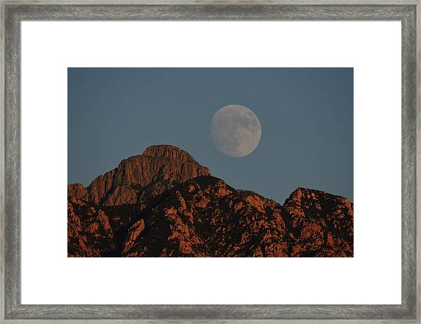 Moon Rise Over Mount Wrightson  Framed Print