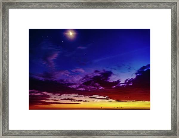 Moon Sky Framed Print