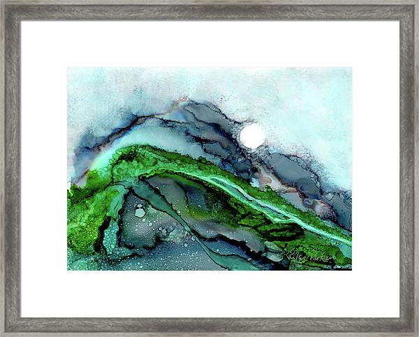 Framed Print featuring the painting Moondance I by Kathryn Riley Parker