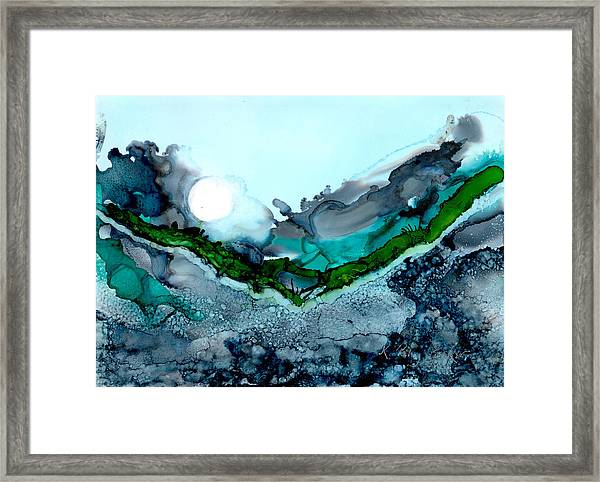 Framed Print featuring the painting Moondance IIi by Kathryn Riley Parker