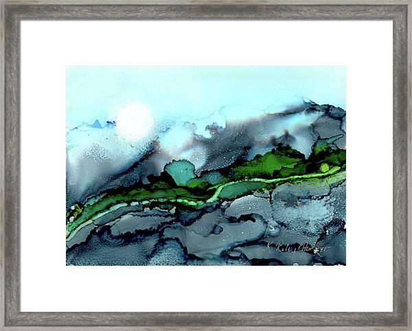 Framed Print featuring the painting Moondance Iv by Kathryn Riley Parker