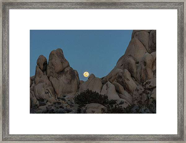Moonrise In The Sight Framed Print