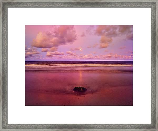 Moonrise, Mayaro Framed Print