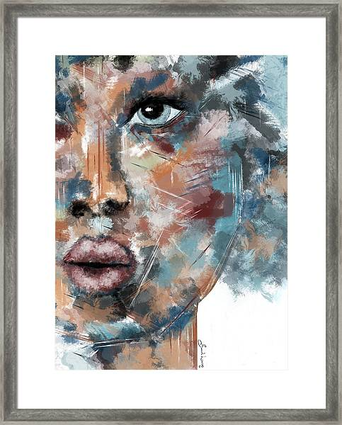 Moonshine-woman Abstract Art Framed Print
