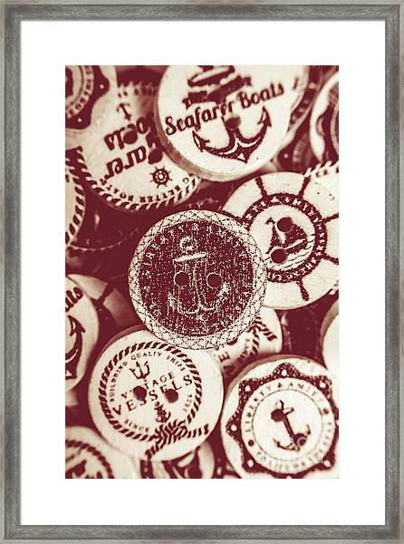 Mooring In Maroon  Framed Print