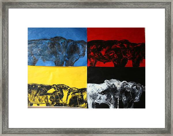 Mooving Out Of Our Land Framed Print
