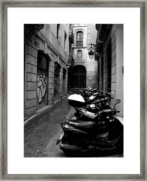 Moped Framed Print