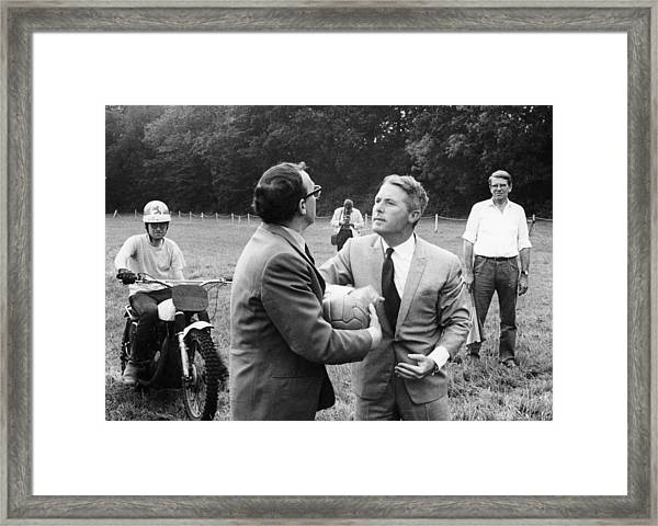 Morecambe And Wise Framed Print by Heritage Images