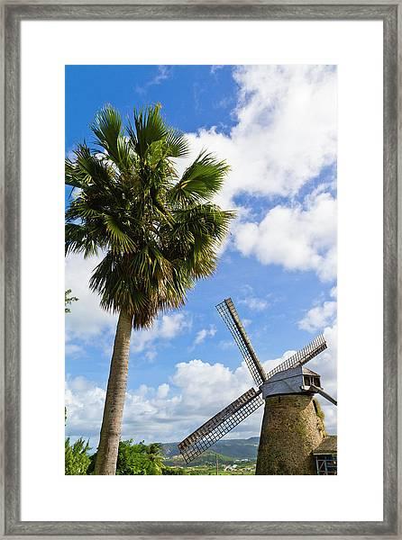 Morgan Lewis Sugar Mill, Barbados Framed Print