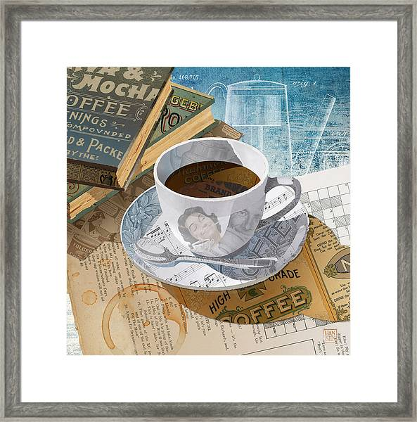 Framed Print featuring the mixed media Morning Coffee by Clint Hansen