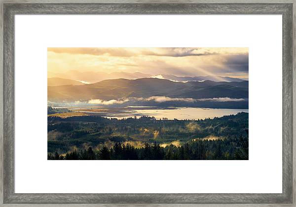 Framed Print featuring the photograph Morning Glory by Whitney Goodey
