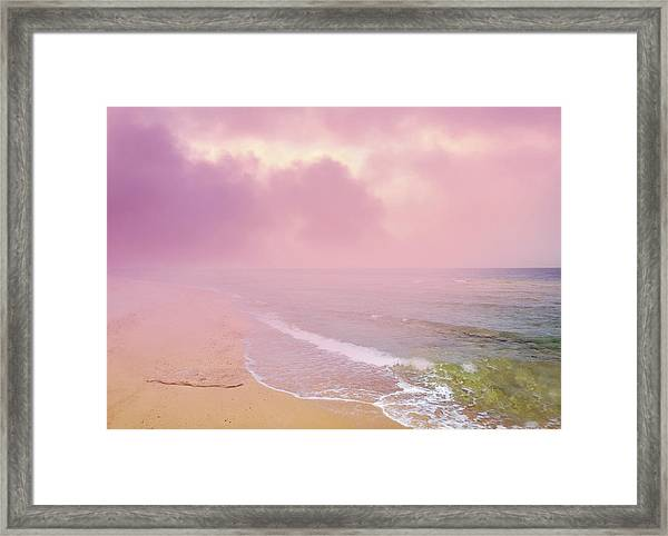 Morning Hour By The Seashore In Dreamland Framed Print