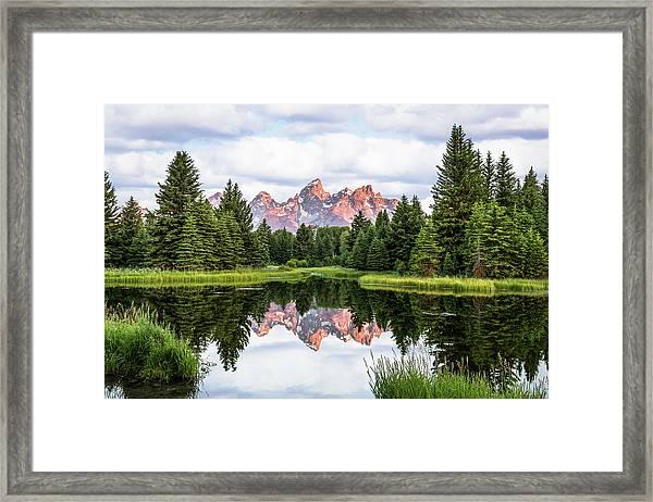 Morning In The Tetons Framed Print