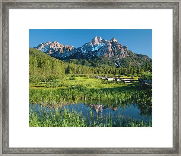Morning Light Reflections P Framed Print