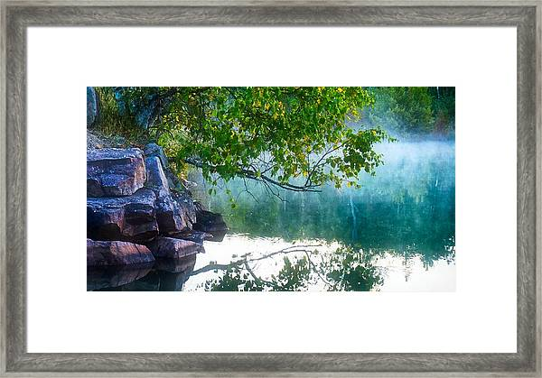Framed Print featuring the photograph Morning Mist by Bryan Smith