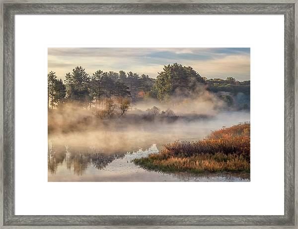 Morning Mist On The Sudbury River Framed Print