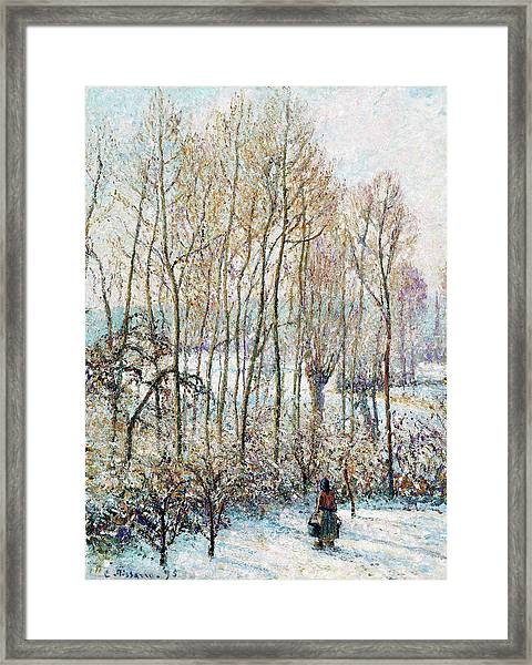 Morning Sunlight On The Snow, Eragny-sur-epte - Digital Remastered Edition Framed Print