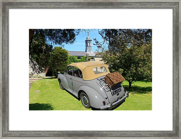 Morris Minor Grey Convertible Framed Print