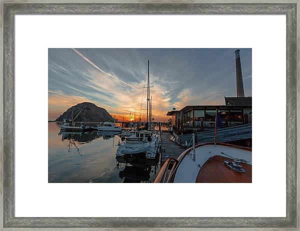 Morro Bay Sunset Framed Print
