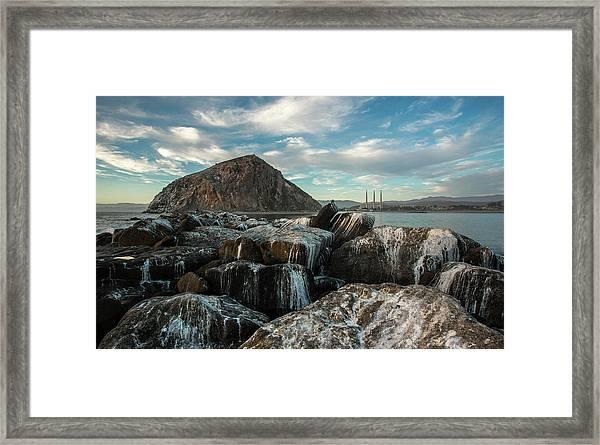 Morro Rock Breakwater Framed Print
