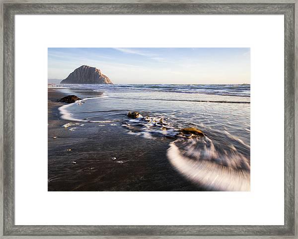 Morro Rock Ebb Tide Framed Print