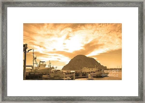 Morro Rock Sky Framed Print