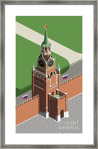 Moscow Kremlin Tower Framed Print