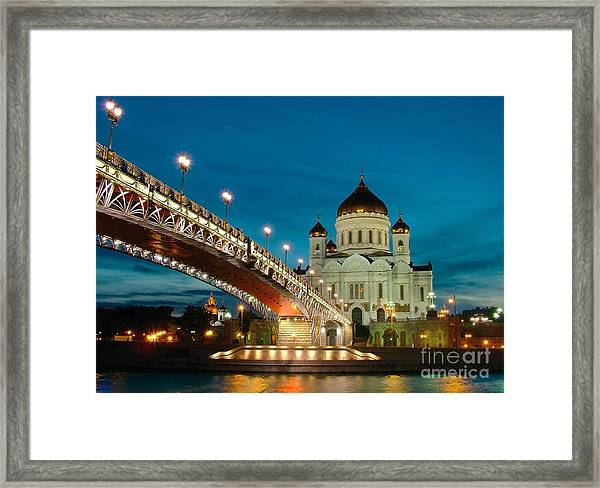 Moscow. Temple Of Christ Our Saviour Framed Print
